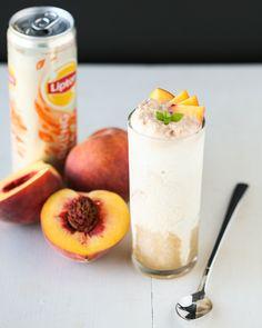 Peaches & Cream Tea Floats Recipe