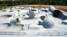 Designed by skaters and engineers, Lake Cunningham Regional Skate Park in San Jose is the biggest in the country.