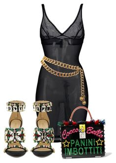 """""""Untitled #1492"""" by styledbyjovonxo ❤ liked on Polyvore featuring Wolford, GEDEBE, Chanel and Dolce&Gabbana"""