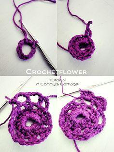 Tutorial crochet flower