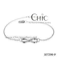hot selling simple stainless steel infinity bracelet SET296-9