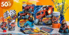 Blaze and the Monster Machines Party Supplies - Blaze Birthday Party - Party City
