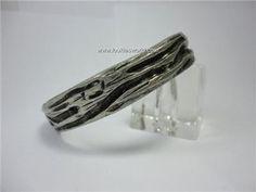 Vintage Modernist Pewter Bracelet Bangle Robert Larin