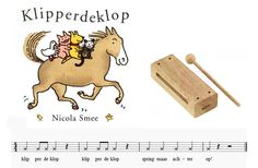 Leuk boek waarin het woord klipperdeklop ritmisch gespeeld kan worden op bijvoorbeeld een woodblock. Laat de kinderen het ritme mee of naklappen (het paard kan heel snel lopen of juist heel langzaam). Snoopy, School, Fictional Characters, Art, Craft Art, Kunst, Schools, Fantasy Characters