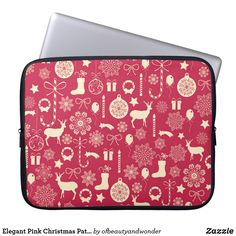 Choose from a variety of Elegant laptop sleeves or make your own! Shop now for custom laptop sleeves & more! Pink Christmas, Christmas Themes, Custom Laptop, Bunting Flags, Best Laptops, Personalized Products, Party Hats, Photo Cards, Laptop Sleeves