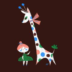 LabPartners Giraffe illustration kids