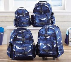 Mackenzie Blue Shark Backpacks #PotteryBarnKids -LUKE for kindergarten-
