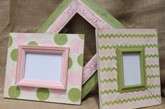 Distressed PIcture Frame Grouping Baby Girl by deltagirlframes, $170.00