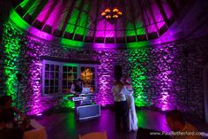 Dancing with DJ Ryan Rousseau at Castle Farms Military Dream Wedding Heroes Wedding Giveaway Photography | Andi + Dwayne photo by Paul Retherford Wedding Photography, http://www.PaulRetherford.com #castleheroeswedding #charlevoix #northernmichigan #nomiweddings #nomivendor #nomiphotographer #nomidj #DJ #DJRyanRousseau #wedding #purmichigan #entertainment #weddingentertainment #castlefarms #weddingidea #uplighting #weddinglighting