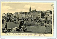 KONIGSBERG, 1938 : Am Regel . Vieux Port. 2 Scans. Edition Trinks