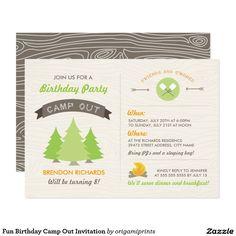 Fun Birthday Camp Out Invitation {affiliate}