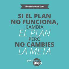 Buen inicio de semana!! #lunes #sanlunes #metas #plan #frases #optimista #positivo #invitacionweb #boda #web #adarle