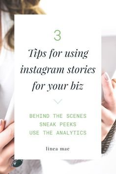 3 tips for using instagram stories for your business. These 3 ways to use the new instagram story feature will make sure you're using it to its fullest! Share business behind the scenes, sneak peeks, and make the most out of instagram's analytics. It's that easy to use instagram stories!