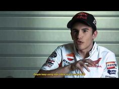 "A funny promotion of Valencia MotoGP about Marc Marquez ""elbow"" on the ground"