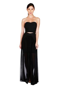 c0a90b8a2d8 Naughty Grl Sweetheart Two Piece Maxi Dress - Black