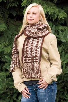 Laredo, a cowl and scarf combo by Carolina Gongora for WildFire Knits, available on Patternfish.
