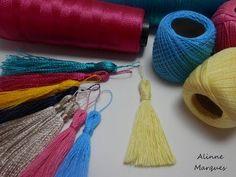 Artesanato Como fazer TASSEL FRANJA para chaveiro, pingente, cortinas - DIY - YouTube