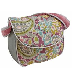 Have to have it. Hoohobbers Flirty Flowers Pink Messenger Diaper Bag $77.99
