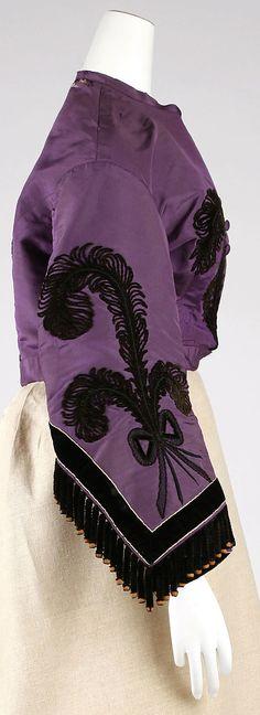 1863 silk dress sleeve detail civil war era fashion
