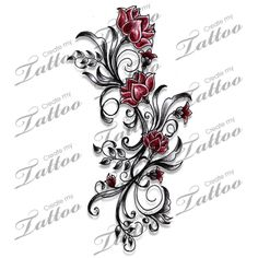 Marketplace Tattoo Lotus Flowers and Swirls Tattoo #17212 | CreateMyTattoo.com