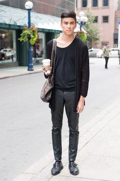 Toronto street style... Alexander-Wang-style minimalism.
