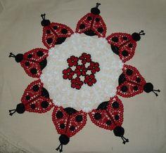Ladybug Doily Crochet Pattern by vjf25 on Etsy, $5.95