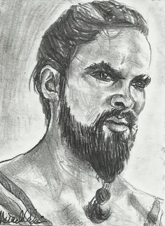 ACEO Game of Thrones Khal Drogo Original Sketch Card by MIRACLE