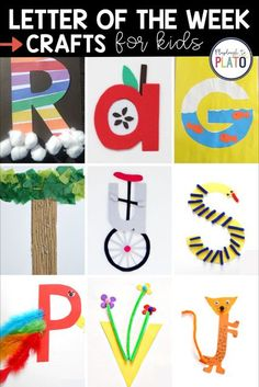 Want to help your Pre-K or Kindergarten kids remember the letters of the alphabet? Try out these letter of the week crafts that are just perfect for an alphabet unit or other parts of your lesson plans! #earlychildhoodeducation #teacherresources #prek #kindergarten #preschool Preschool Learning Activities, Preschool Activities, Teaching Kids, Fun Arts And Crafts, Crafts For Kids, Abc Games For Kids, Playdough To Plato, Upper And Lowercase Letters, Letter Of The Week