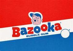 BAZOOKA BUBBLE GUM 1970S