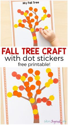 Easy fall craft for toddlers and preschoolers. This fall art activity also develops fine motor skills!