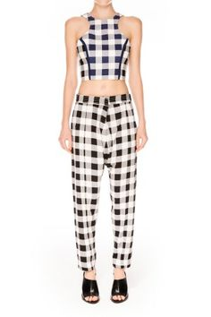 Finders Keepers The Label | Shake It Out Pant | Gingham White | BNKR | Shop Finders Keepers