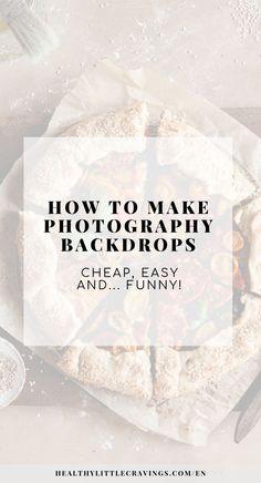 HOW TO MAKE PHOTOGRAPHY BACKDROPS / DIY & CHEAP