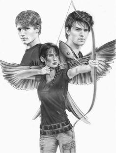 The Hunger Games – Catching Fire – Mockingjay - Peeta Mallark – Josh Hutcherson - Gale Hawthorne - Liam Hemsworth - Jennifer Lawrence - Katniss Everdeen