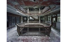 Detroit's wasteland. This website has some hauntingly beautiful photos of the empty buildings.