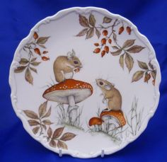 A Royal Albert The Country Walks Collection Collector Plate Autumn Playtime