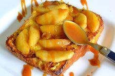 Brioche perdue aux pommes et caramel au beurre salé