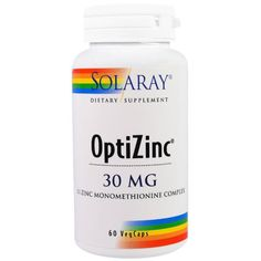 Solaray, OptiZinc, 30 mg, 60 Veggie Caps: has acne-fighting ingredients in zinc ~Gothamista