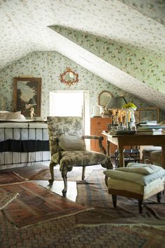 under the eaves ~ Ron Sharkey's home in upstate NY. Image by Kelly Merchant. http://andnorth.com