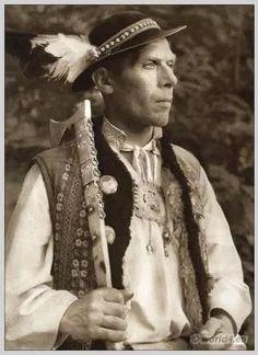 Peasant from Ždia, Tatra Mountains Slovakia. Peasant Clothing, Roman Artifacts, Polish Folk Art, Tatra Mountains, Bohemian Girls, India People, Folk Embroidery, We Are The World, European History
