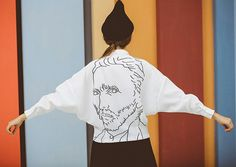 Collezione d'arte bianco e nero Van Gogh camicia