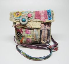 Reserved. Upcycled Bag Beachy Boho Cross the Body Style. $65.00, via Etsy.