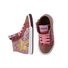 KEMI PINK BIZU multi glitter leather sneakers