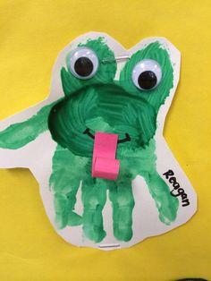 basteln mit kleinkindern frosch malen