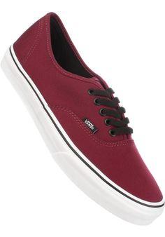 Vans Authentic, Shoe-Men, burgundy-white Titus Titus Skateshop #ShoeMen #MenClothing #titus #titusskateshop