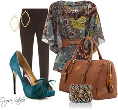 Pretty Peacock, created by orysa on Polyvore