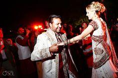 Indian American Weddings, Grand Velas Riviera Maya, Interracial Wedding, Indian Bridal, American Indians, Mexico, Sari, Photography, Fashion