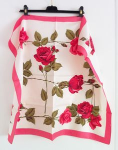 Rose print vintage foulard originally bought at Topshop. Pic by me.