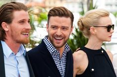 (L-R) Garrett Hedlund, Justin Timberlake and Carey Mulligan attend Inside Llewyn Davis photocall at the 66th Cannes Film Festival, in Cannes, France.