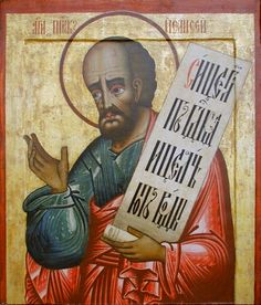 Elisha - Wikipedia // Russian icon of Elisha (18th century, Kizhi Monastery, Russia).