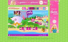 The old polly pocket website. I will say it again: why oh why did the give the pollys a makeover?? They are horrible now!
